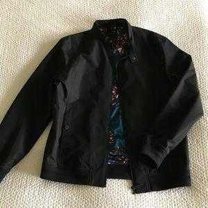 Ted Baker 4 (Med) Black Bomber Jacket
